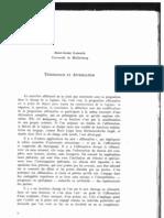 Gadamer - Tegmoinage Et Affirmation