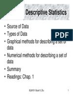 L2 Descriptive Statistics