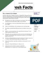 Fresh Facts - April 2014