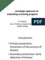 Evaluating Screening
