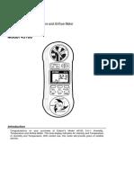Anemometer Manual