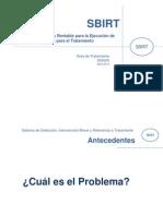 PPT SBIRT Proyecto Piloto (Abril 2013) Senda