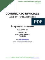 C.U.N.58 del 09-04-2014