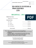 225 advanced office sys and proc r 2014