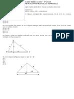 LISTA DE EXERCÍCIOS - relaçoes metricas no triangulo retangulo