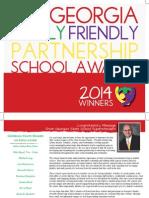2014 Georgia Family- Friendly Partnership School Awards Book