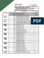 Continental F162 Parts List
