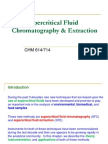 Supercritical Fluid Chromatography and Extraction