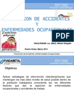 Prevencion de Accidentes y Enf.ocupacionales Marzo2014