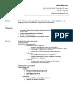 caitlin adornato- resume april 9 2014