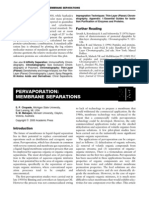 Pervaporation - Membrane Separations