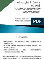 Absorção Atômica - Analise de Alimentos II
