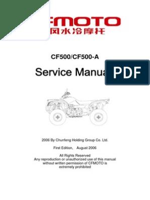 CF Moto 500 Manual | Question | Integrity