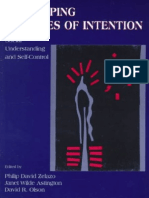 Philip David Zelazo, Janet Wilde Astington, David R. Olson Developing Theories of Intention Social Understanding and Self-Control 1999