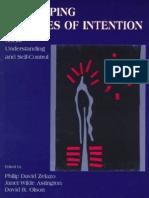Philip David Zelazo, Janet Wilde Astington, David R. Olson Developing Theories of Intention Social Understanding and Self-Control 1999