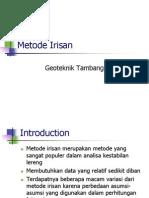 Metode Irisan