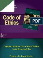 Catholic Charities USA Code of Ethics and Social Responsibility