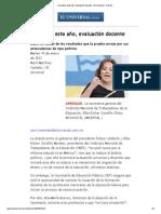 A prueba, este año, evaluación docente - El Universal - Nación(10 de enero, 2012)