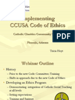 Implementing CCUSA Code of Ethics