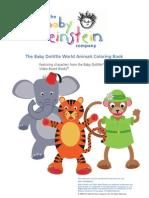 Baby Einstein World Animals Libro Para Colorear