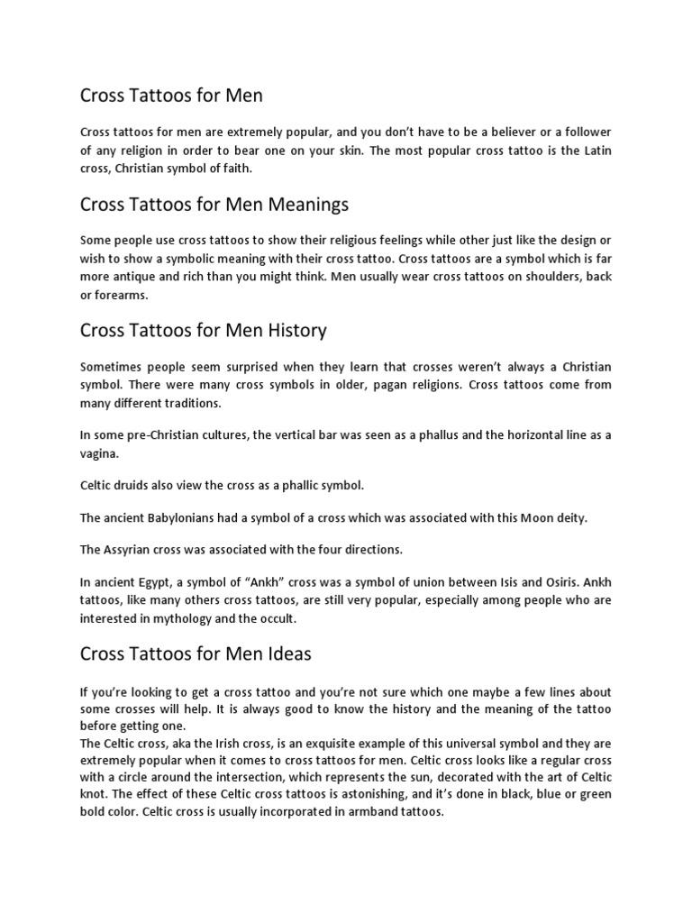 Cross Tattoos For Men Crucifixion Tattoo