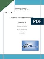 como descargar un software de aplicación (OpenOffice).