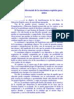 Diferencial de La Ensenanza Espirita Para Ninos Rita Foelker