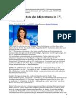 Die zwölf Gebote des Idiotentums in TV-Nachrichten
