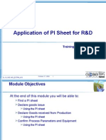 PI sheet for Confirmation of trials