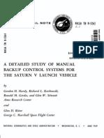 Manual Backup Control for SaturnV