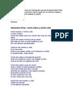 Letra de Alexandre Pires - Você robou a minha vida