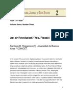 Santiago m. Roggerone Act or Revolution Yes Please
