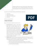 Cara Menulis Karya Ilmiah