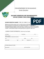Washington Online Military Exemption Form