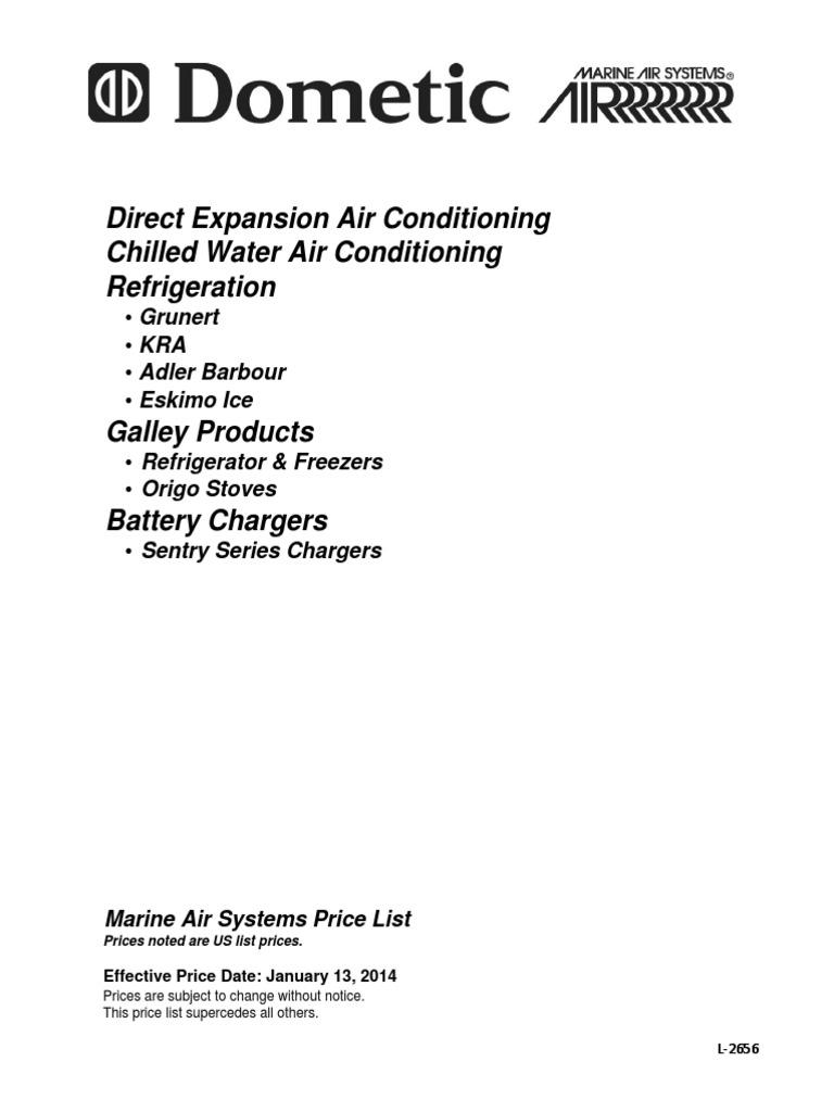 2014 Marine Air Pricebook Hvac Heating Ventilating And Altivar 61 Control Wiring Diagram Conditioning