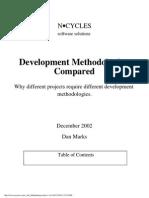 Development Methodologies Compared