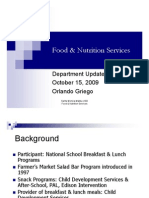 Food Services Presentation 102609
