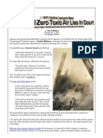 9_11 Victims' Lawyers Blast Ground Zero Toxic Air Lies in Court