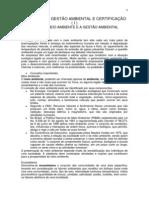 SISTEMAS DE GESTÃO AMBIENTAL E CERTIFICAÇÃO I