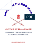 Brochure on Terminal Benefits for Army Officers