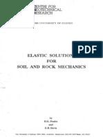 Elastic Solutions for Soil and Rock Mechanics - Poulos & Davis