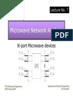 Lec.7 Microwave Network Analysis