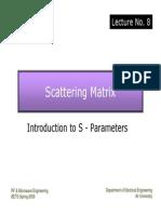 Lec.8 S Parameters