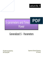 Lec.9 Generalized S-Parameters and Power Relations