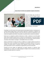 04-04-14 015 BOLETÍN Propone Manuel Ignacio Acosta dotar de títulos de propiedad a espacios educativos