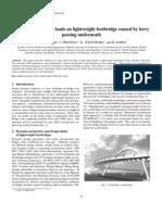 Analysis of Dynamic Loads for Lightweight Footbridges