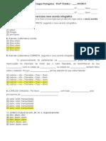 Exercícios novo acordo ortográfico 2014 OK gabarito