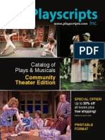 Playscripts, Inc. Catalog of Plays & Musicals Community Theater Edition