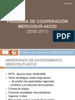 Programa de Cooperacion MERCOSUR AECID Virginia Martinez