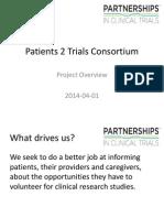 Patients 2 Trials Consortium - Project Overview